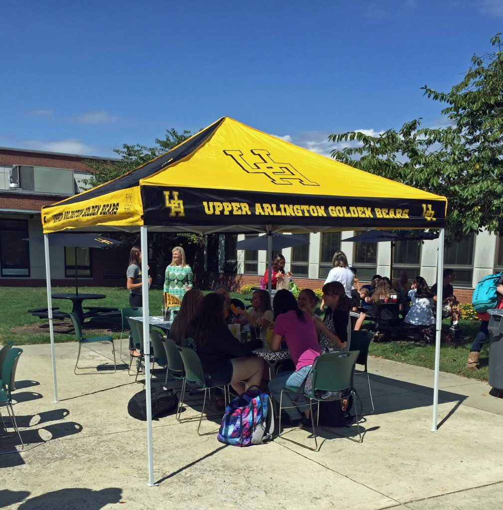 New students were welcomed by the PTO into UAHS on Friday, September 11th under sunny skies.